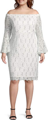 Scarlett Long Sleeve Party Dress - Plus