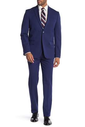 Ben Sherman Solid Two Button Notch Collar Suit