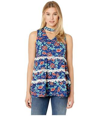 Rock and Roll Cowgirl Printed Tank Top B5-9636