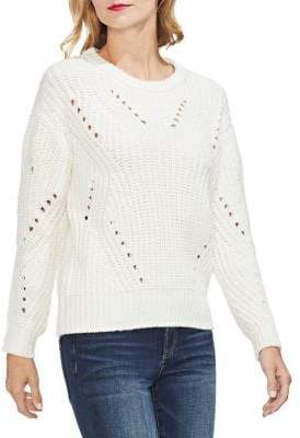Vince Camuto Estate Jewel Transfer Ribbed Sweater