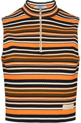 Prada ribbed knit top