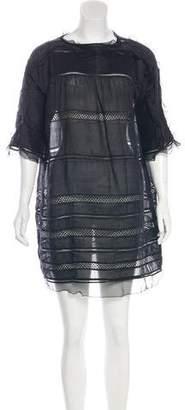 Isabel Marant Crochet-Trimmed Gathered-Paneled Dress