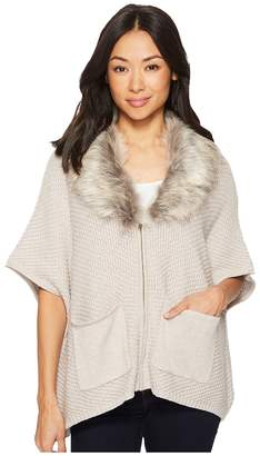Bobeau B Collection by Carlie Cardigan with Faux Fur Women's Sweater