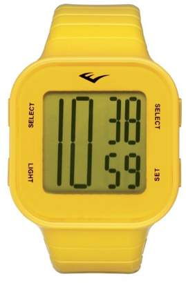 Everlast 33-504 Unisex Digital Watch with LCD Dial Digital Display and Yellow Plastic or PU Strap EV-504-005