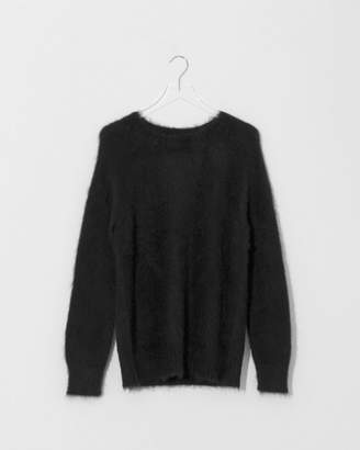 Alexander Wang Black Solid Mohair Pullover