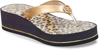 GUESS Enzy 3 Wedge Flip Flop - Women's