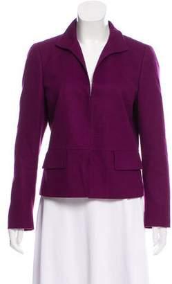 Akris Cashmere Pointed Collar Jacket