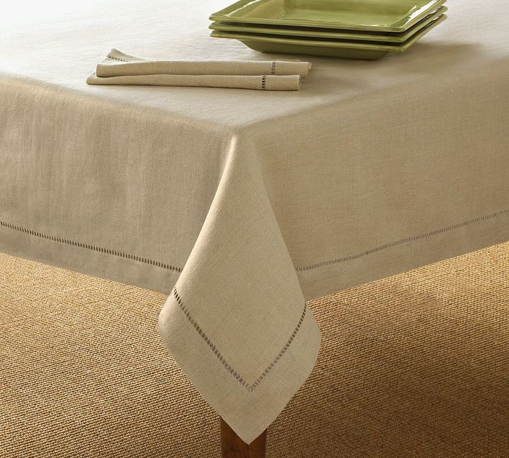 Linen Hemstitch Tablecloth - Select Items