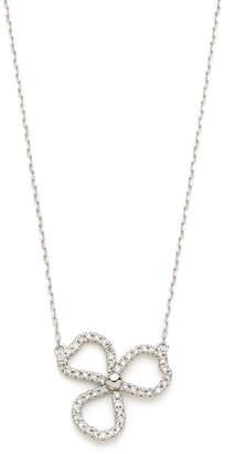 GIANTTI K18WG ダイヤモンド0.18ct ペタルモチーフ ネックレス ホワイトゴールド