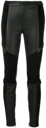 Karl Lagerfeld panelled skinny trousers