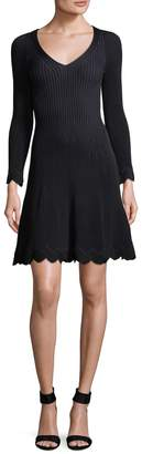 Fendi Women's Ribbed Scalloped Dress