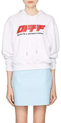 "Off-White Women's ""OFFF"" Cotton Terry Hoodie"
