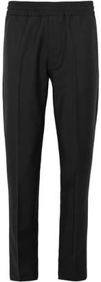Acne Studios Ryder Slim-fit Tapered Wool And Mohair-blend Drawstring Trousers - Black