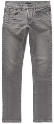 Tom Ford Slim-Fit Selvedge Stretch-Denim Jeans - Men - Gray