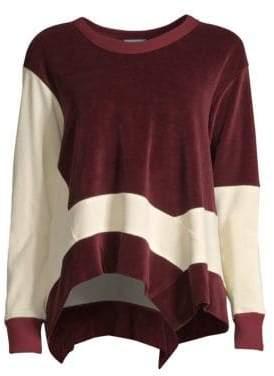 Wilt Velour Drape Sweatshirt
