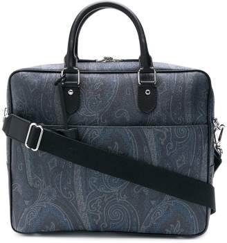 Etro paisley print laptop bag