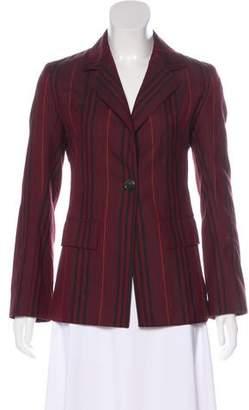 Burberry Striped Button-Up Blazer