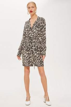 Topshop Leopard Print PJ Shirt Dress
