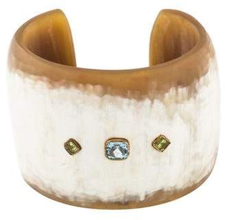 Ashley Pittman Horn, Topaz & Quartz Cuff