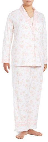 Carole HochmanCarole Hochman Three-Piece Floral Pajama Set