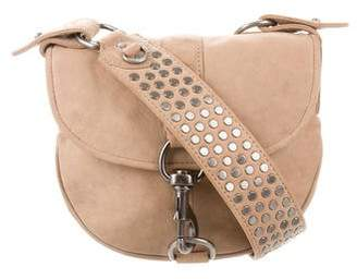 Rebecca Minkoff Mini Studded Suede Crossbody Bag