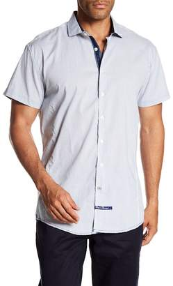 English Laundry Checked Short Sleeve Classic Fit Shirt