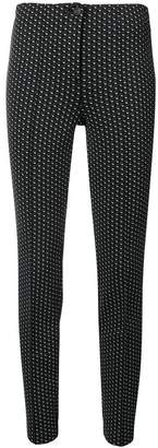 Cambio regular fit patterned trousers