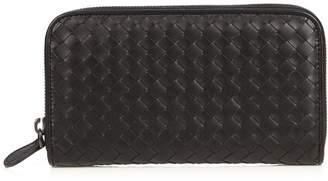 BOTTEGA VENETA Intrecciato leather zip-around wallet $617 thestylecure.com