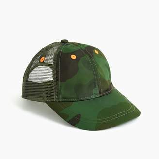 J.Crew Boys' mesh-paneled baseball cap in camo