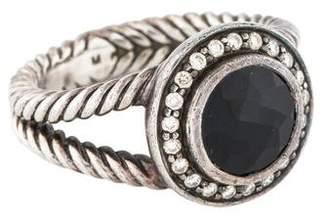 David Yurman Onyx & Diamond Cerise Ring