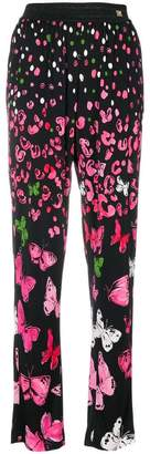 Class Roberto Cavalli butterfly print trousers