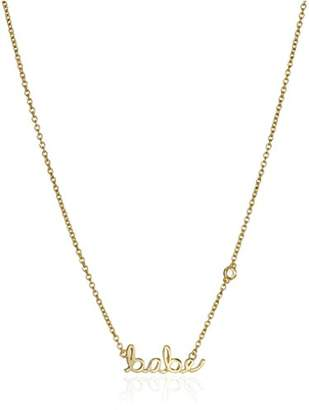 "Shy by SE""Babe"" Necklace with Diamond Bezel"