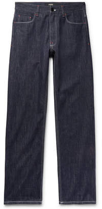 Fendi Logo-Appliqued Denim Jeans - Men - Dark denim