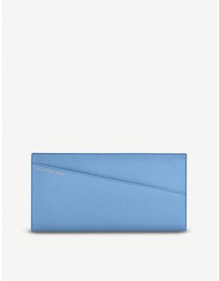 Smythson Panama slim leather travel wallet