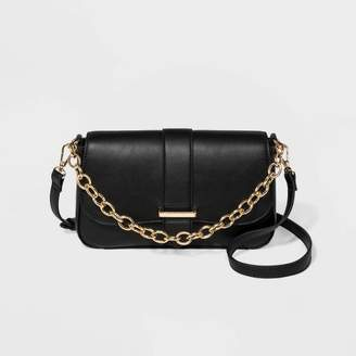A New Day Flap Closure Satchel Handbag with Chain Strap