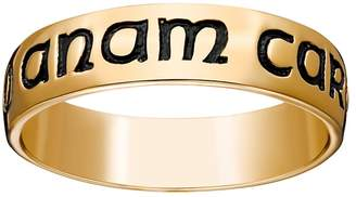 "Cara Kohl's 18k Gold Over Silver ""Mo Anam Wedding Band"