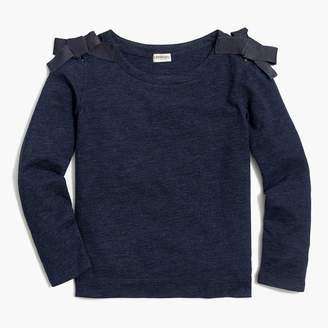 J.Crew Girls' long-sleeve bow-shoulder T-shirt