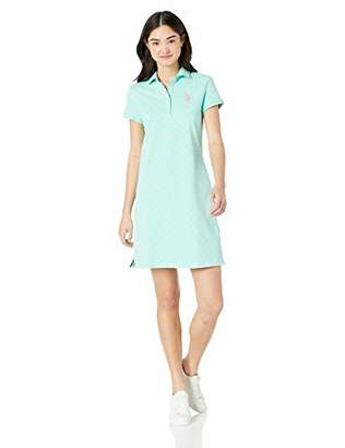 b8c2713b50ae U.S. Polo Assn. Women s Polka Dot Pique Polo Dress