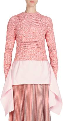 Cédric Charlier Long-Sleeve Mesh Sweater
