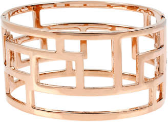 Bold Elements Rose Tone Bangle Bracelet