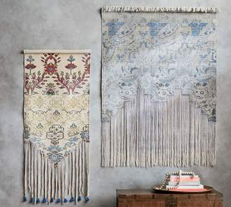 Pottery Barn Cotton Fringed Large Rug Tapestry
