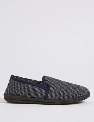 Marks and Spencer Big & Tall Checked Slip-on Slippers