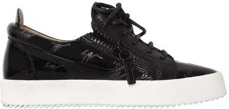 Giuseppe Zanotti Design 20mm Logo Patent Leather Sneakers