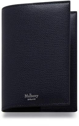 Mulberry Passport Cover Midnight Cross Grain Leather