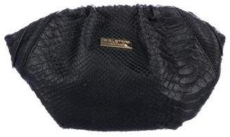 Halston Embossed Leather Clutch