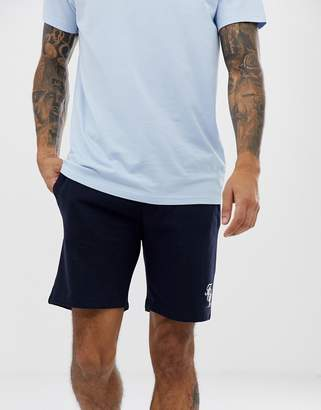 French Connection script logo jersey shorts