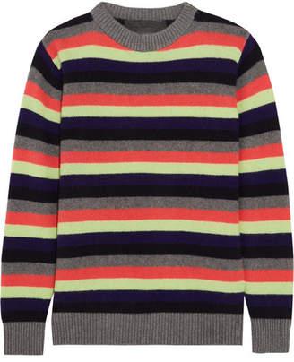 Striped Cashmere Sweater - Gray