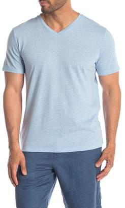 Public Opinion Short Sleeve V-Neck Stripe T-Shirt