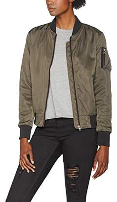 Urban Classic Women's Ladies Nylon Twill Bomber Jacket