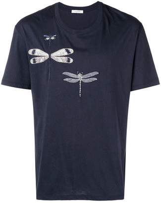 Valentino dragonfly embroidered T-shirt